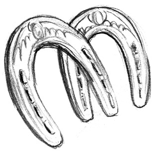 Double Horseshoe Clipart Images Of Horseshoes Clipart