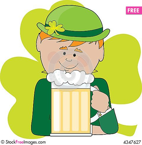 Free Leprechaun And Beer Royalty Free Stock Photography   4347627