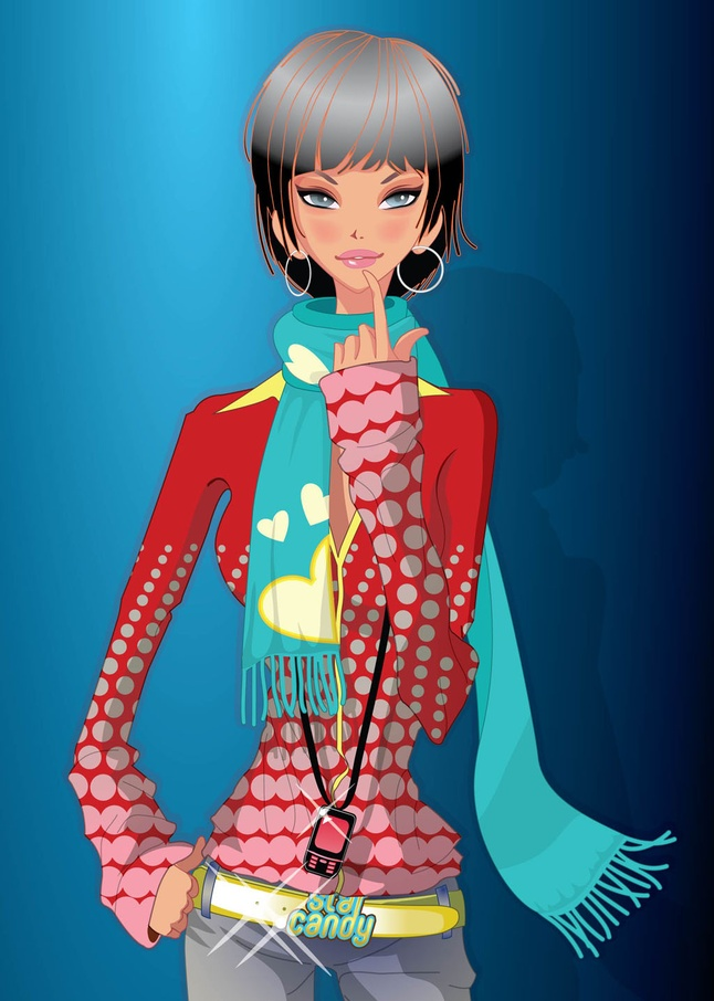 Home   Clip Arts   Beautiful Girl Vector