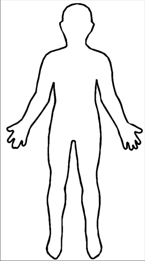 Outline Of Person Coloring Page   Az Coloring Pages