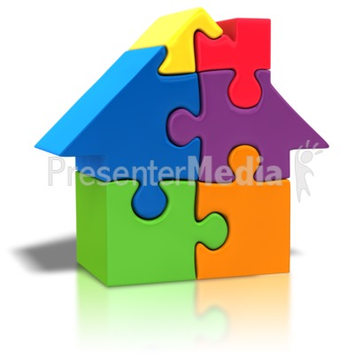 Puzzle Piece House Outline   Home And Lifestyle   Great Clipart For