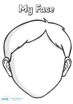 Set Of Helpful Blank Faces Templates Useful For A Variety Of