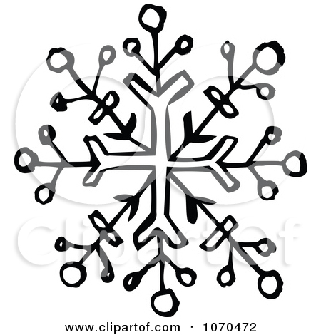 Simple Snowflake Clipart Black And White Black And White ...