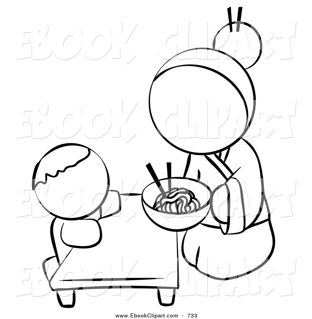 White Human Factor Chinese Woman Feeding Her Baby Noodles At The Table