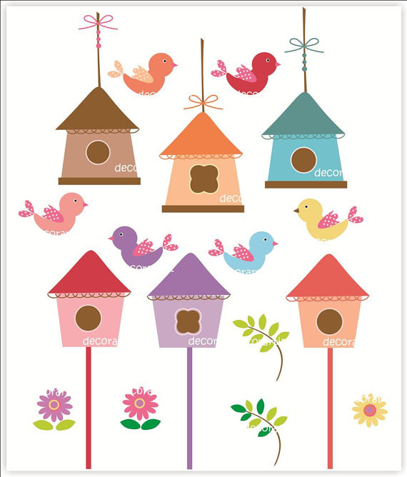 Birdhouse Digital Clipart - Clipart Kid