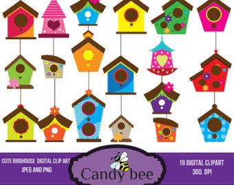 Birdhouse Clip Art Clipart Cute Whimsical Bird House Clipart Clip Art