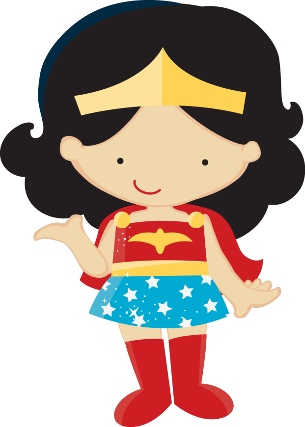 Wonder Woman Girl Clipart - Clipart Kid