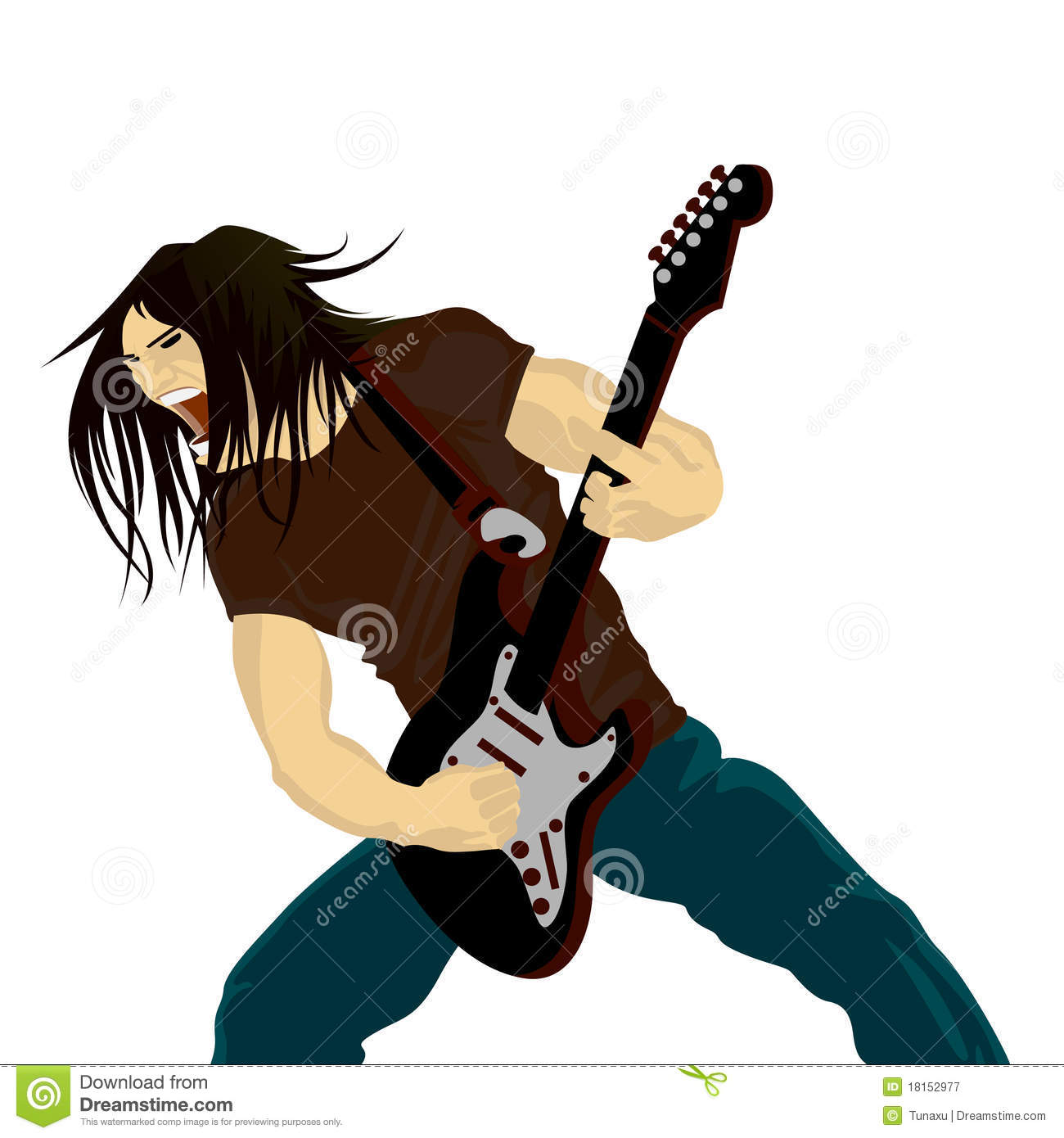 Rock Guitarist Royalty Free Stock Photography   Image  18152977