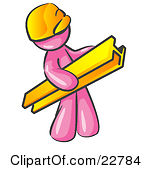 Royalty Free  Rf  Pink Guy Clipart Illustrations Vector Graphics  2