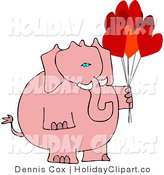 Valentine S Day Clip Art Of A Pink Valentine Elephant Holding Heart