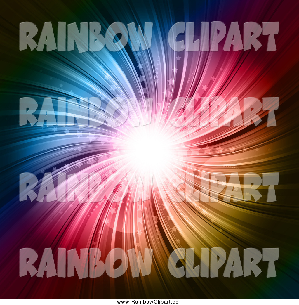 Vector Clip Art Of A Colorful Starburst On Black