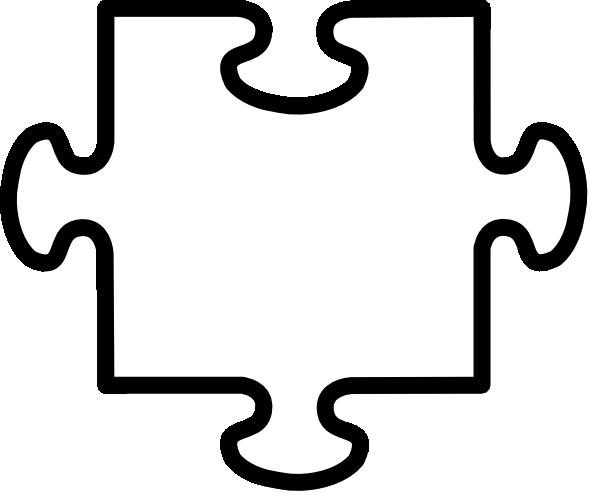 White Jigsaw Piece Clip Art At Clker Com Vector Clip Art Online