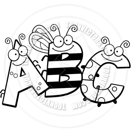 Abc Clip Art Black And White   Clipart Panda   Free Clipart Images
