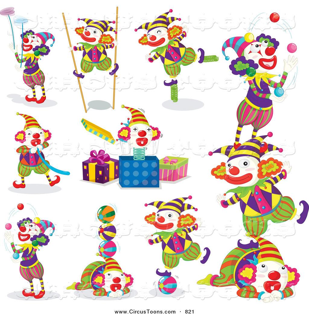 Circus Clown Clipart - Clipart Kid
