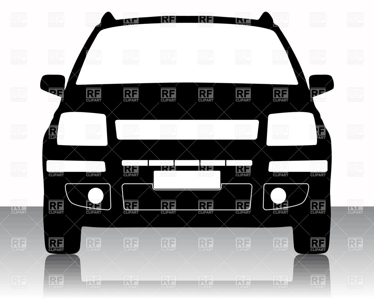 Family Car Silhouette 16430 Download Royalty Free Vector Clipart