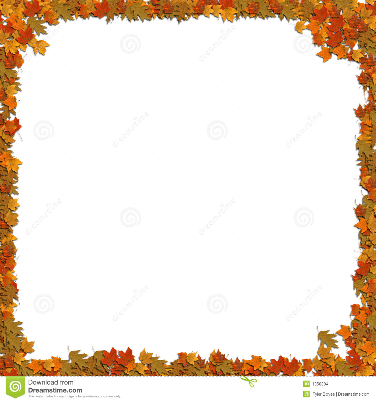 Frame Of Leafs Stock Images   Image  1350894