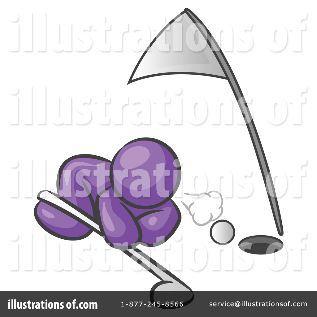 Golfing Clipart  219458 By Leo Blanchette   Royalty Free  Rf  Stock