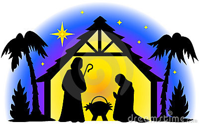 Illustration Of The Holy Family In Silhouette   I Also Have Two