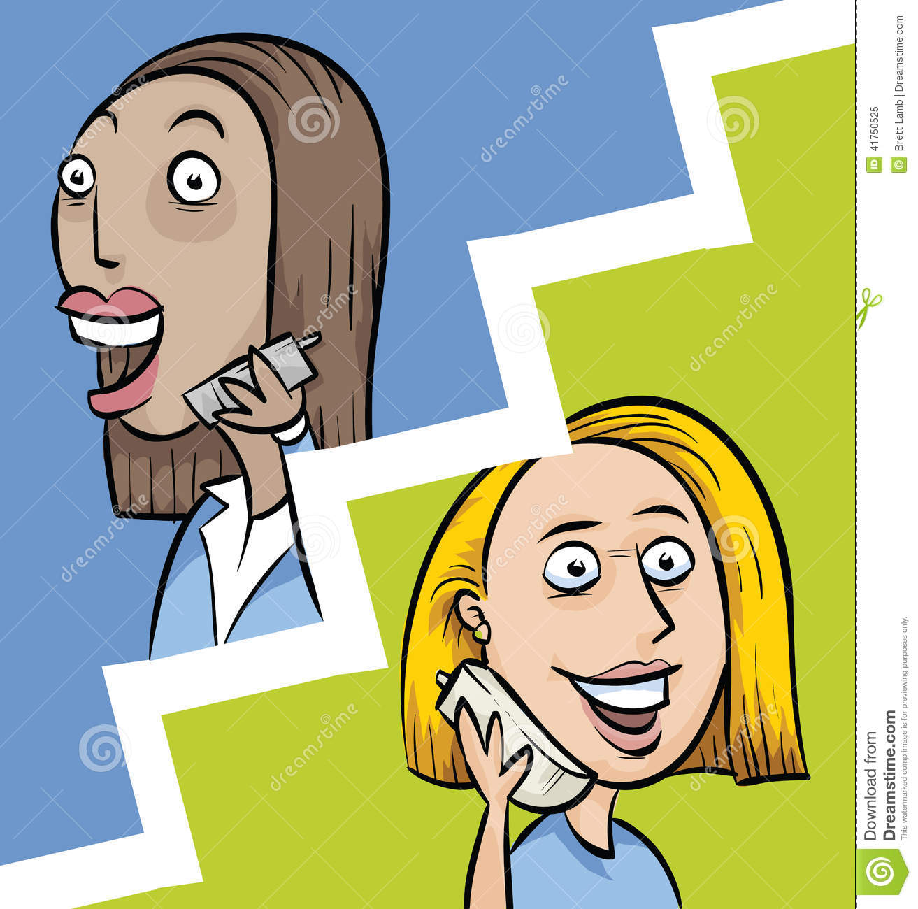 Irish Cartoon Of Two Women Talking Clipart - Clipart Suggest