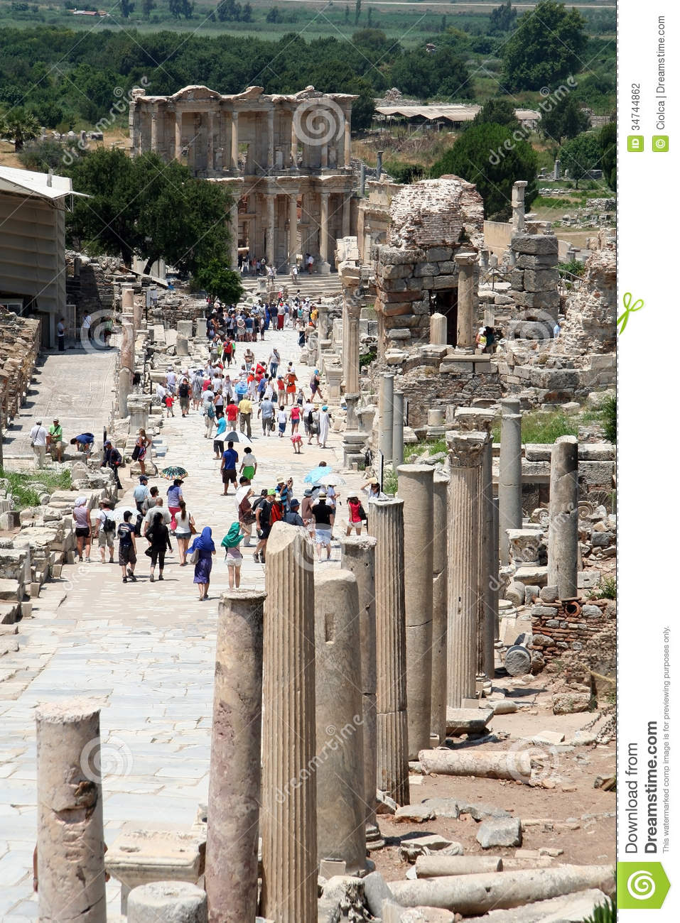 Ruins In Ephesus Turkey Editorial Photography   Image  34744862