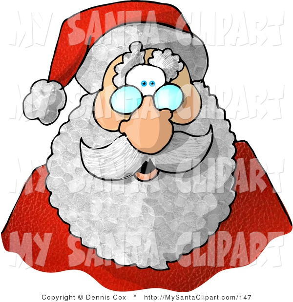 Santa Claus Hat With A Smiling Face Coloring Page