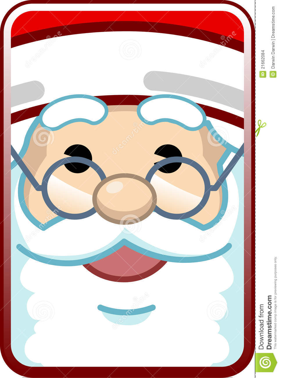 Santa Face Stock Images   Image  21662084