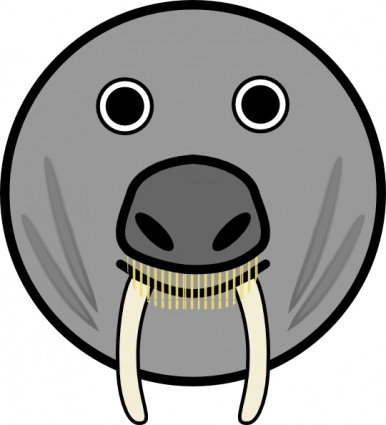 Seal Animal Rounded Face Clip Art Free Vector In Open Office Drawing