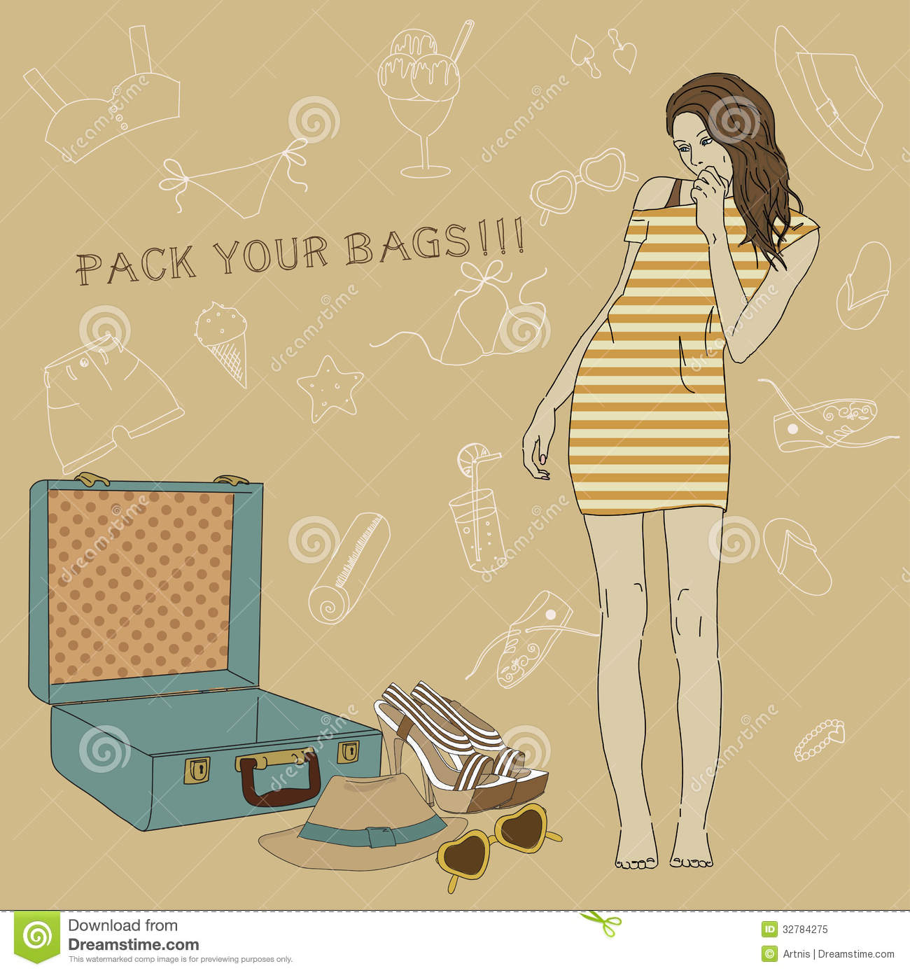 Suitcase  All For The Summer Holidays  Enjoy Your Summer Vacation
