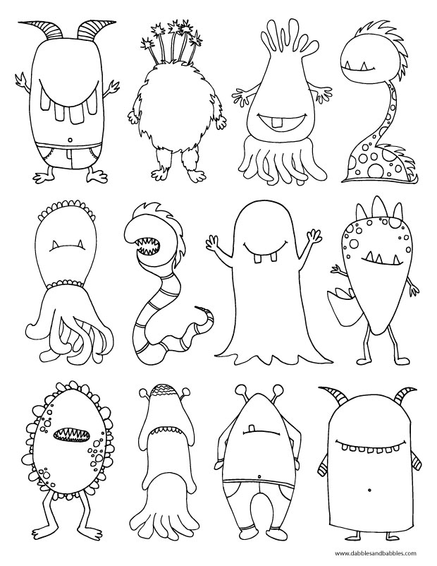 The Kids Will Love This Scary Monster Coloring Page