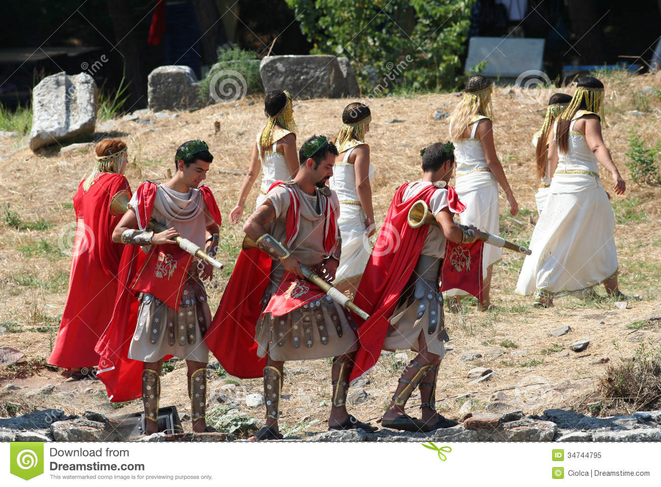 Theatrical Performance In Ephesus Turkey Editorial Image   Image