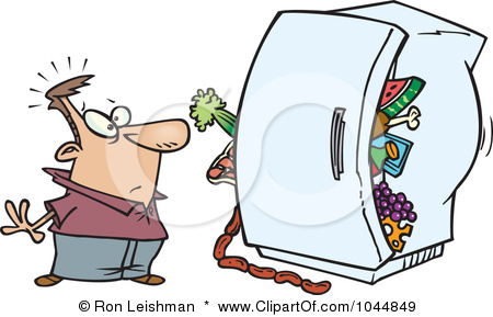 Cleaning Refrigerator Smelly Clipart
