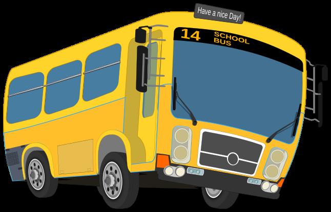 School Bus Outline Clipart - Clipart Kid