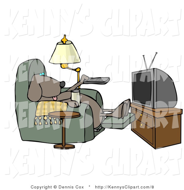 Clip Art Of A Relaxing Dog Sitting In A Recliner With A Beer Changing