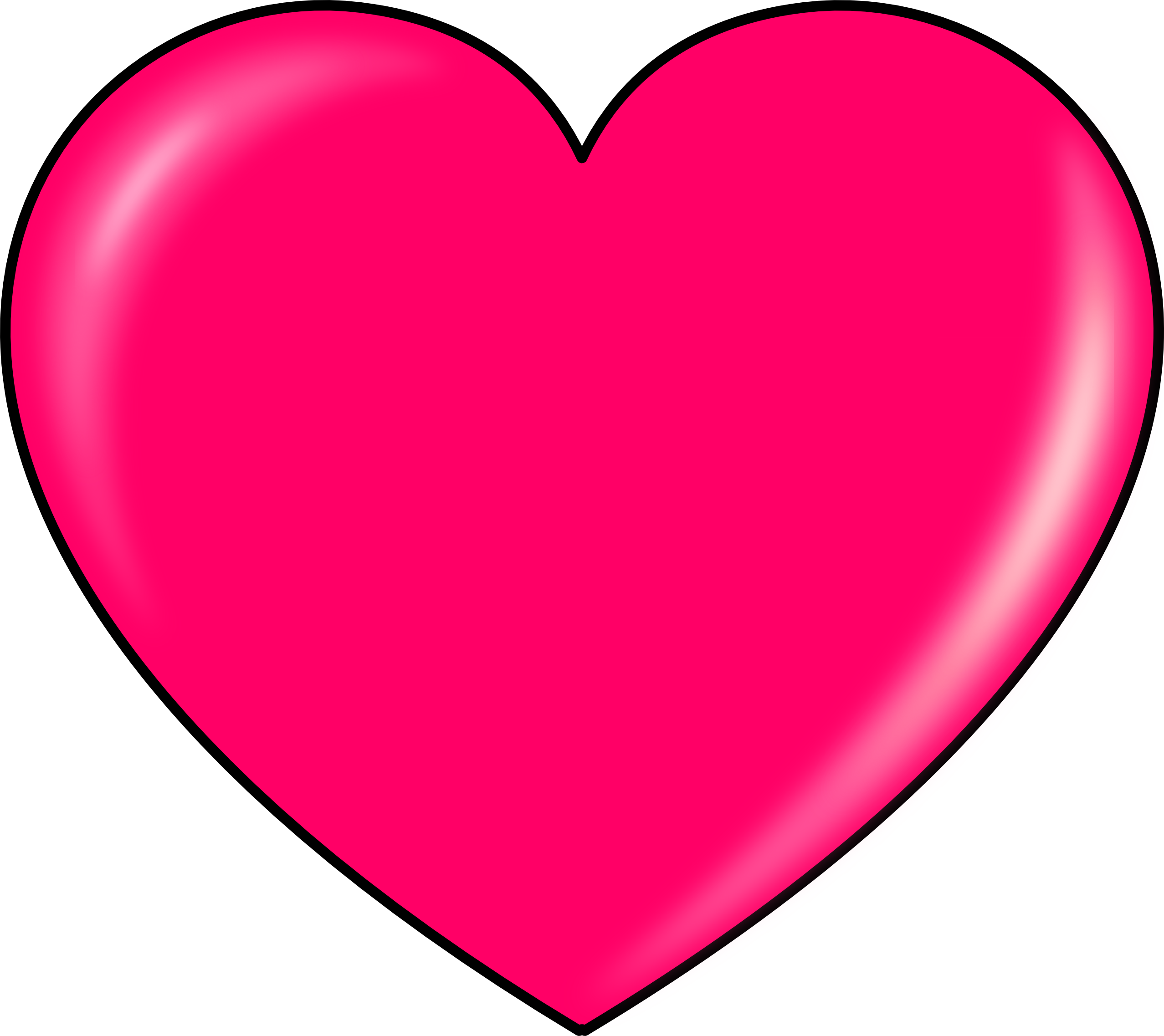 Hot Pink Heart Clipart Pink Heart 2555px Png