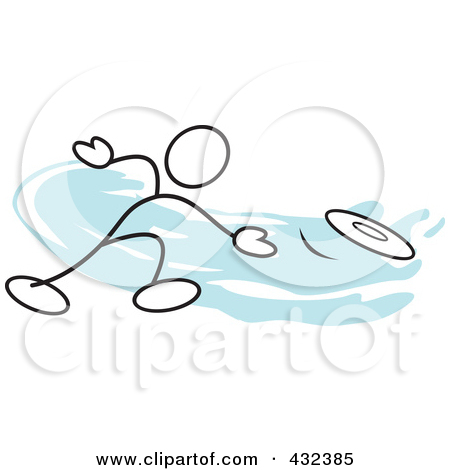 Rf Clipart Illustration Of A Stickler Man Throwing A Frisbee 1 Jpg