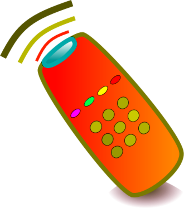 Wireless Remote Control Device Vector Clip Art