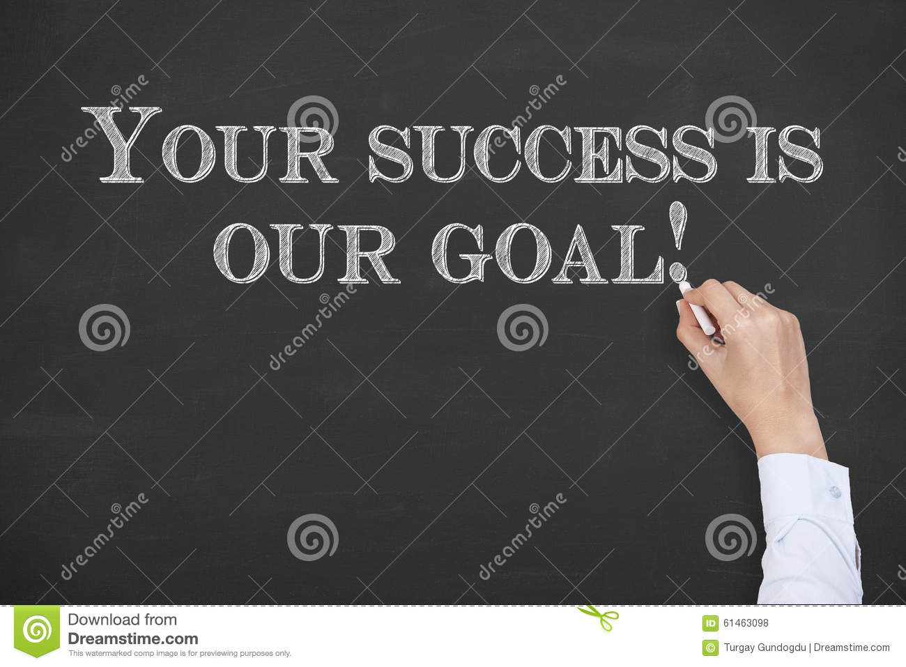 Your Success Is Our Goal On Chalkboard On Working Business Conceptual