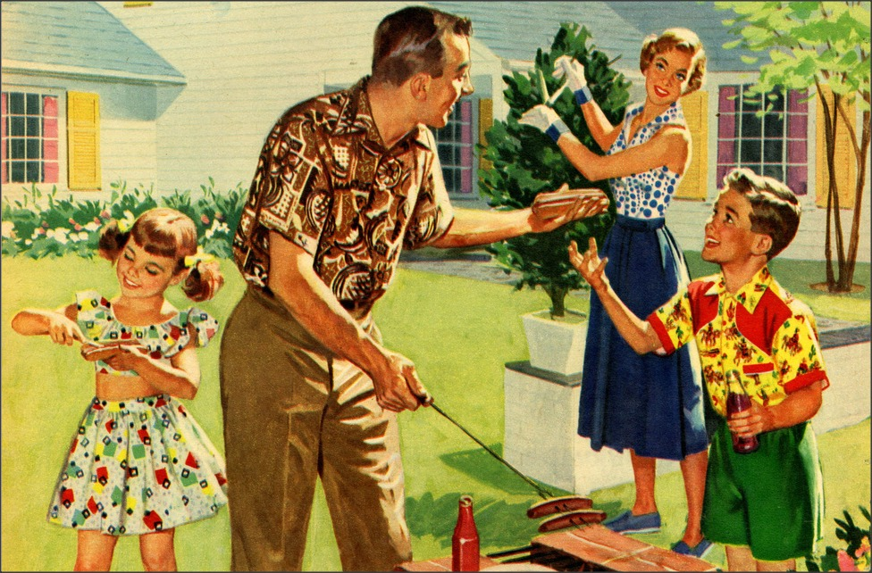 1950s Unlimited   Family Cookout 1950s