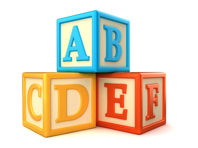 Abc Building Blocks On White Background   Homeschooling 911