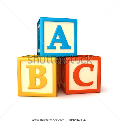 Abc Building Blocks On White Background Stock Photo Clipart