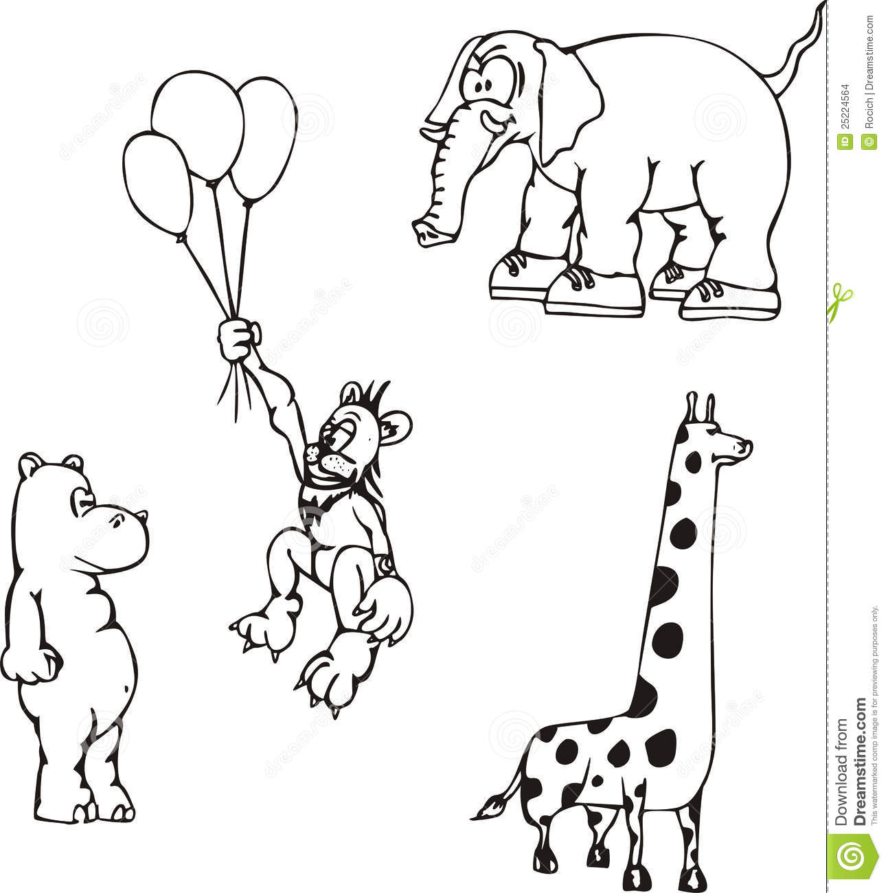 Zoo Black And White Clipart Clipart Suggest