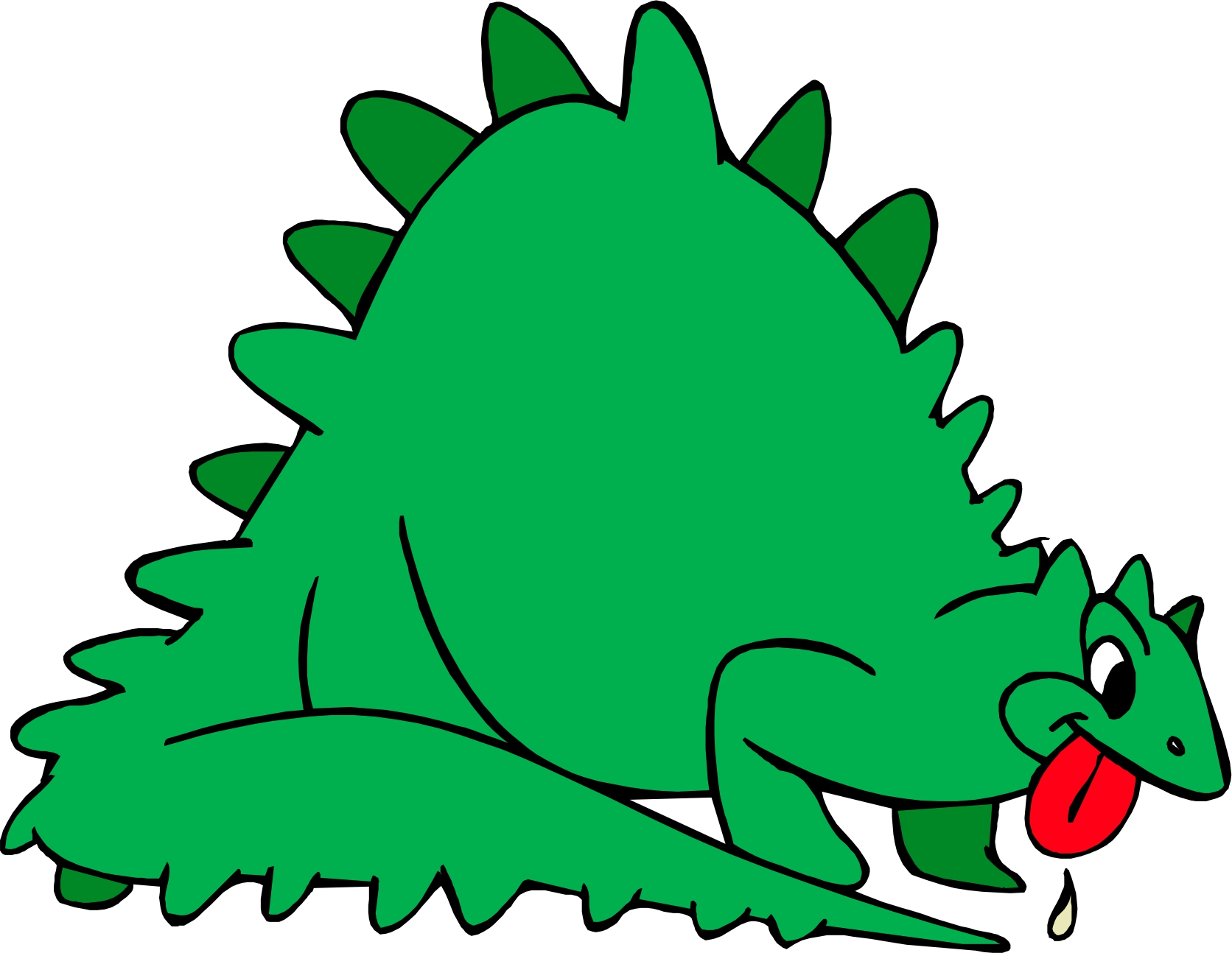 Cartoon Dinosaur Clipart - Clipart Kid
