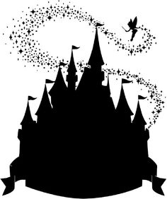 Disney Castle Silhouette Jpg Convert To Cutting File More Disney