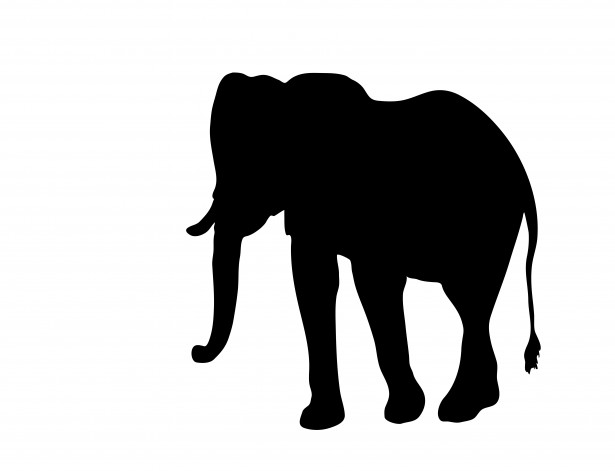 Elephant Clipart Silhouette By Karen Arnold