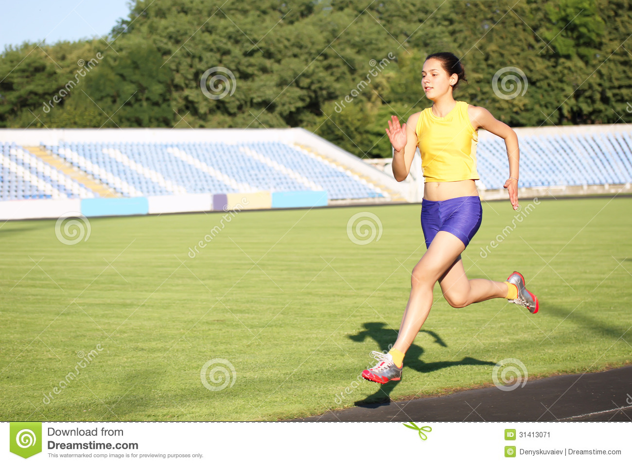 Girl Running Stock Image   Image  31413071