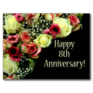 Wedding Gifts For 8th Anniversary : Happy 8th Anniversary Gifts T Shirts Art Posters Other Gift