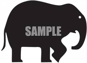 Silhouette Of An Elephant   Royalty Free Clipart Picture