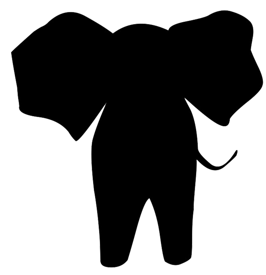 Simple Elephant Silhouette Animal Silhouette Silhouette Clip Art