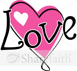 Twisty Pink Love Heart   Valentines Day Clipart