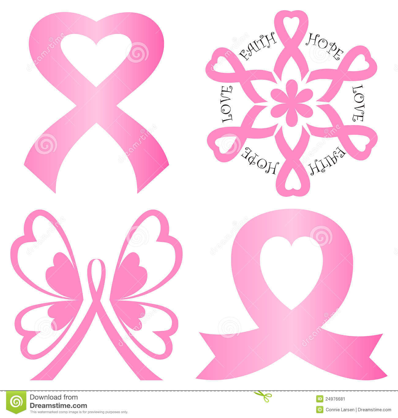 Support Pink Ribbons Clipart Clipart Suggest
